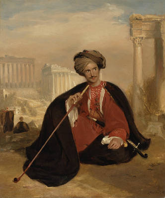 Bruce Art Painting - Charles Lenox Cumming-bruce In Turkish Dress by Andrew Geddes