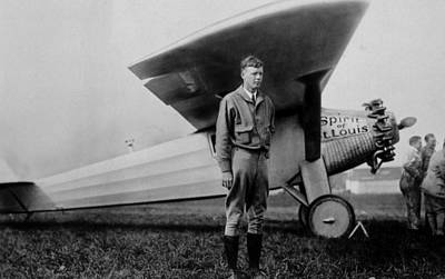 Jt History Photograph - Charles Lindbergh 1902-1974 by Everett