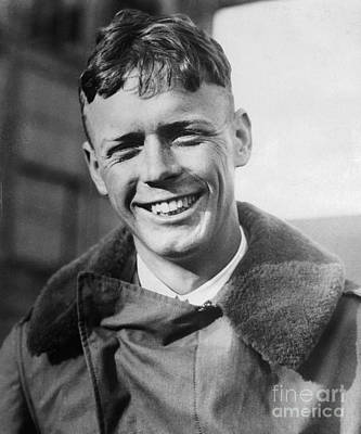 Charles Lindbergh, American Aviator Art Print by Science Source