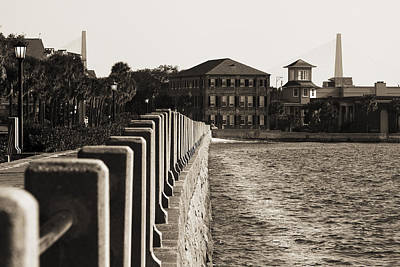 Cooper River Photograph - Charleston South Carolina Waterfront Battery by Dustin K Ryan