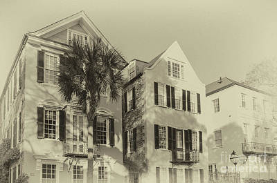 Photograph - Charleston Style Houses by Dale Powell