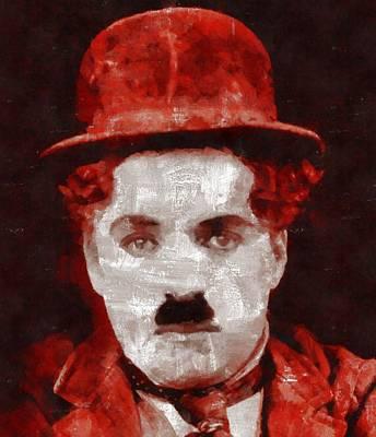 Charlie Chaplin Painting - Charlie Chaplin Hollywood Legend by Esoterica Art Agency