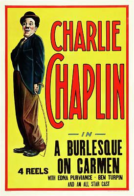 Burlesque Drawing - Charlie Chaplin In A Burlesque On Carmen 1915 by Mountain Dreams