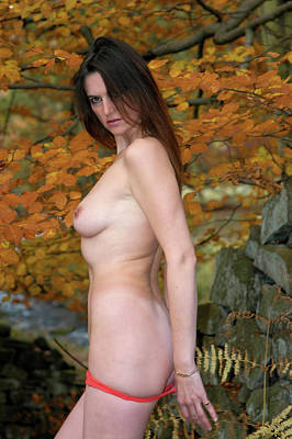 Charliegirl Photograph - Charliegirl Autumn Nude by Attic Studios