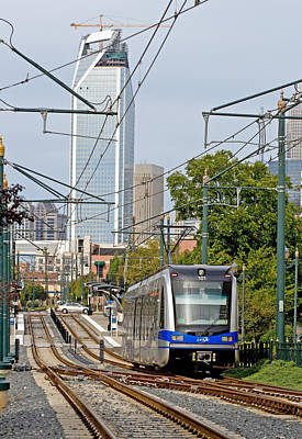 Photograph - Charlotte Light Rail  by Joseph C Hinson Photography