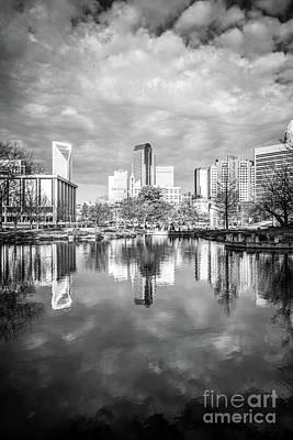 Mecklenburg County Photograph - Charlotte Skyline Reflection On Marshall Park Pond by Paul Velgos