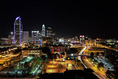 Photograph - Charlotte Skyline by Serge Skiba