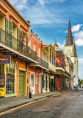 Manhole Photograph - Chartres St In The French Quarter 2 by Steve Harrington