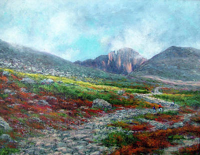 Painting - Chasm Lake Trail by Jill Musser