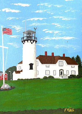 Chatham Lighthouse Painting Print by Frederic Kohli