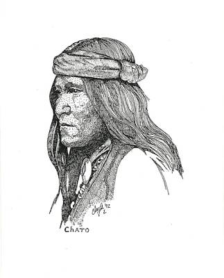 Drawing - Chato by Clayton Cannaday