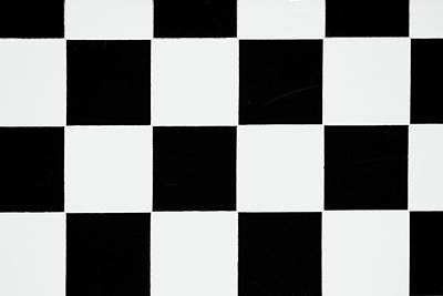 Photograph - Black And White Checkered by Debbie Oppermann