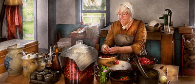Photograph - Chef - Kitchen - Cleaning Cherries  by Mike Savad