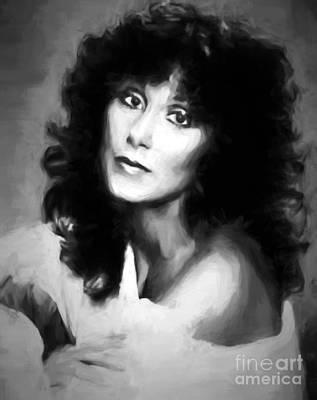 Digital Art - Cher by Steven Parker