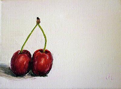 Fruit Tree Art Painting - Cherries by Maria Woithofer