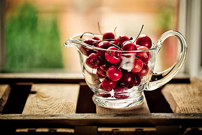 Wooden Bowls Photograph - Cherries by Nailia Schwarz