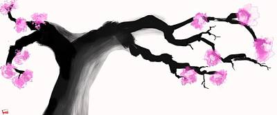 Sumo Digital Art - Cherry Blossom  by Ryan Lundy