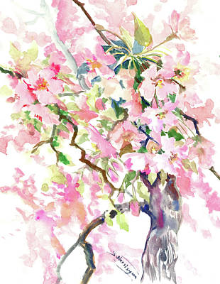 Painting - Cherry Blossom by Suren Nersisyan