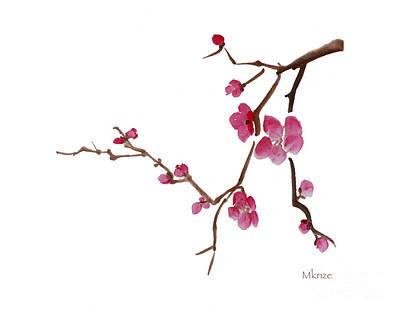 Cherry Blossoms 1d Art Print by McKenzie Leopold