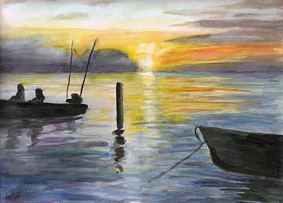 Painting - Chesapeake Sunset by Clara Sue Beym