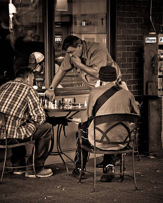 Photograph - Chess Game by Erin Kohlenberg