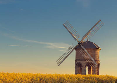 Rapeseed Photograph - Chesterton Windmill by Chris Fletcher