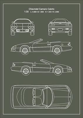 Chevrolet Camaro Cabrio Art Print by Elena Kosvincheva