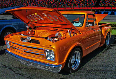 Chevy Stepside Art Print by Victor Montgomery