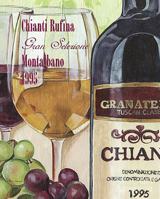 White Wine Painting - Chianti Rufina by Debbie DeWitt