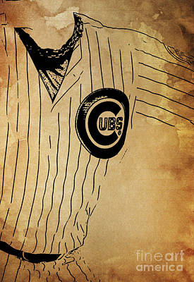 Cooperstown Mixed Media - Chicago Cubs Baseball Team Vintage Card by Pablo Franchi