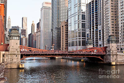 Leo Photograph - Chicago Downtown At Lasalle Street Bridge by Paul Velgos