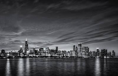Trump Tower Photograph - Chicago In Black And White by Matt Hammerstein