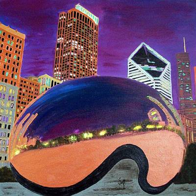 Chicago Painting - Chicago Millennium Park by Char Swift