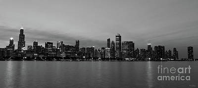Photograph - Chicago Night Skyline by Jennifer White