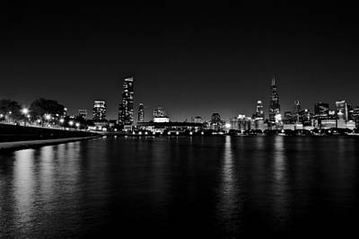Photograph - Chicago-skyline 2 Bw by Richard Zentner