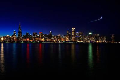 Chicago-skyline 3 Art Print