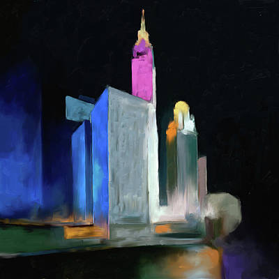 Painting - Chicago Skyline 524 2 by Mawra Tahreem