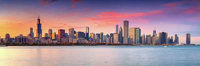 Photograph - Chicago Skyline  by Emmanuel Panagiotakis
