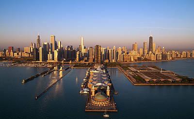 Chicago Skyline Art Print by Jeff Lewis
