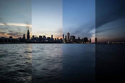 Chicago Skyline Time Slice  Art Print