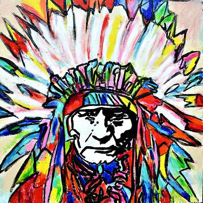 Painting - Chief by Nicole Gavin