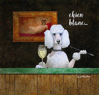 Painting - Chien Blanc... by Will Bullas