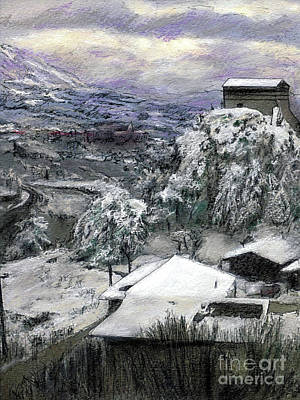 Painting - Chiesa San Vito In The Snow by Randy Sprout