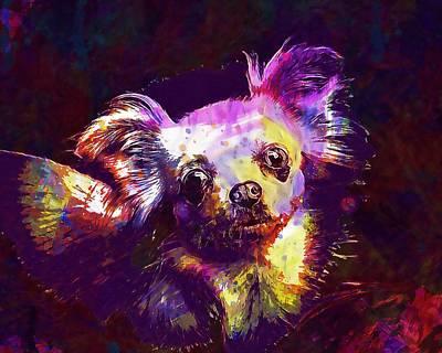 Chihuahua Digital Art - Chihuahua Dog Chiwawa Small  by PixBreak Art