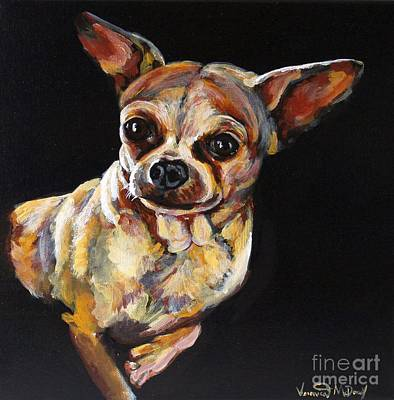 Painting - Chihuahua Portrait by Veronica McDonald