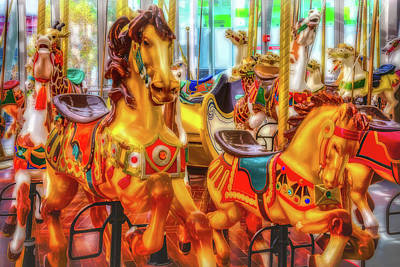 Fanciful Photograph - Childhood Carrousel Ride by Garry Gay