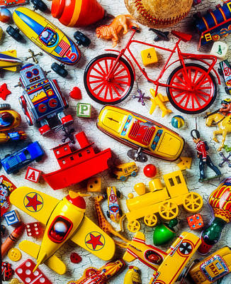 Car Jack Photograph - Childhood Toys by Garry Gay