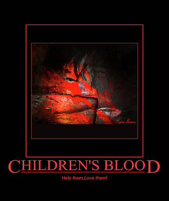 Photograph - Children's Blood by Karo Evans