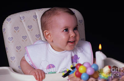 Photograph - Childs 1st Birthday by Jim Corwin