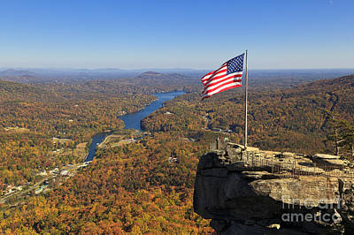 Photograph - Chimney Rock In The Fall by Jill Lang